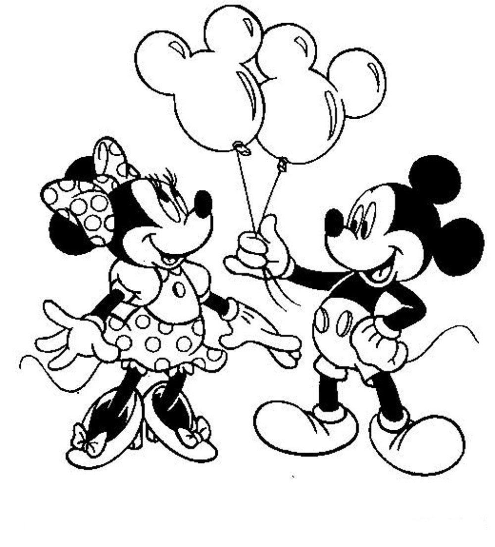 Minnie En Mickey Mouse Kleurplaten