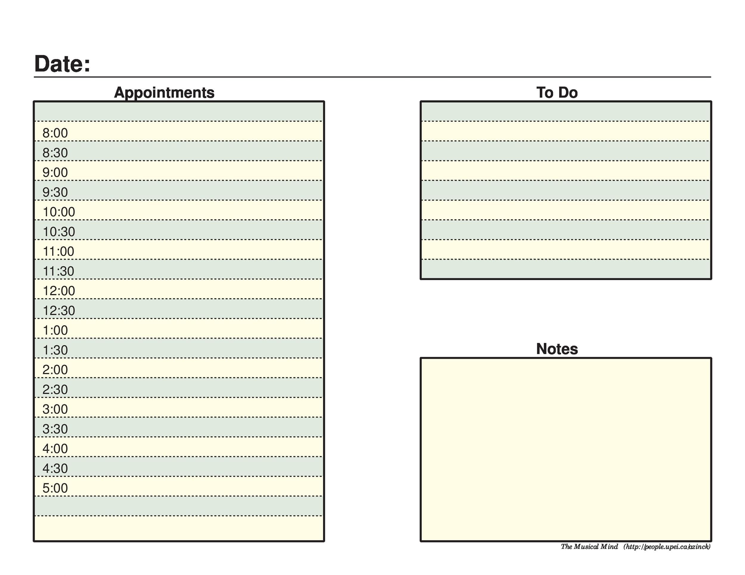40+ Printable Daily Planner Templates (FREE) - Template Lab
