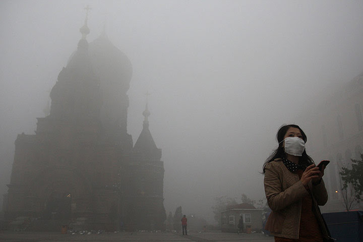 China smog: San Sophia church