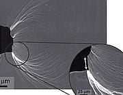 Le deformazioni plastiche del nuovo vetro (da ScienceDaily)