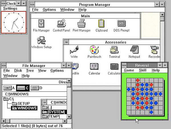 Windows 3.0: 1990