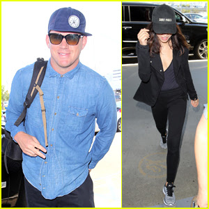 Channing Tatum Jets Out of LAX with Wife Jenna Dewan