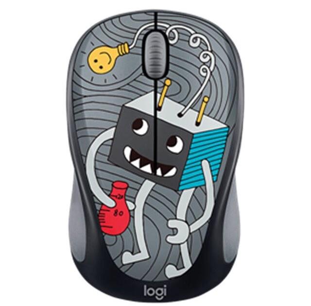 c01de8e7265 Special Price New Logitech M238-v3 wireless mouse office girls portable  cartoon notebook desktop USB multi-color M238 cartoon version