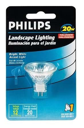 Philips 156760 Landscape Lighting 20Watt 12Volt MR11  Halogen Bulbs  Amazon.com