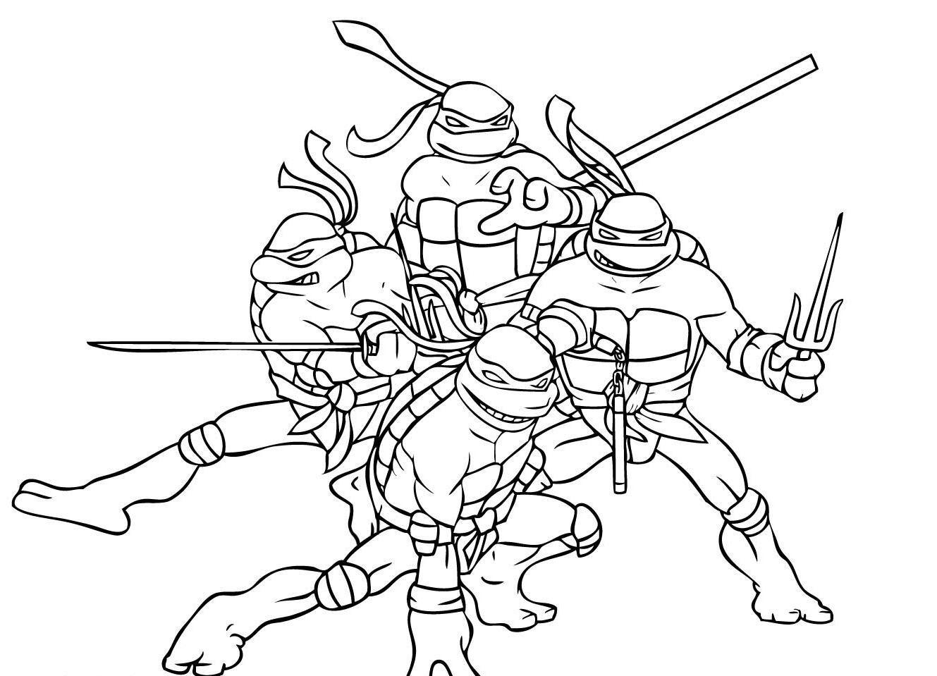 Ninja Turtles Da Colorare Stampae Colorare