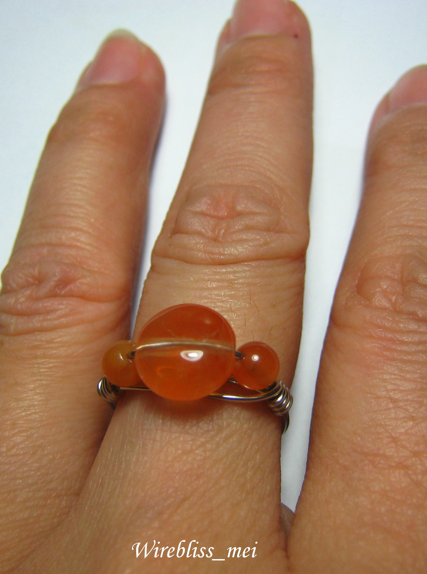 wire wrapped rings with agate