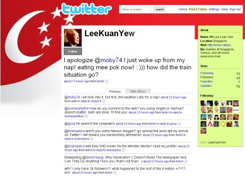 LKY is on Twitter!