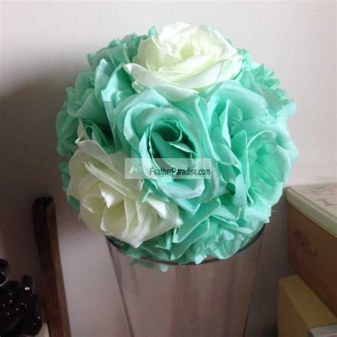 Rose Flower Pomander Wedding decoration Ball Silk Kissing