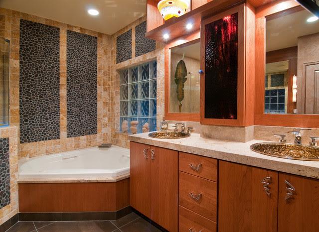 luxury bathroom on