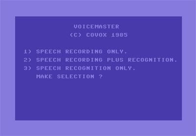 Voice Master funcionando en Commodore 64