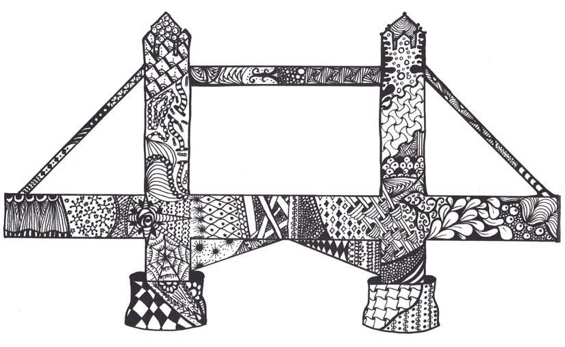 Disegno Da Colorar Antistress Londra Tower Bridge 2
