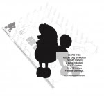 Poodle Dog Silhouette Yard Art Woodworking Pattern - 2 sizes included - fee plans from WoodworkersWorkshop® Online Store - poodles,dogs,pets,animals,yard art,painting wood crafts,scrollsawing patterns,drawings,plywood,plywoodworking plans,woodworkers projects,workshop blueprints