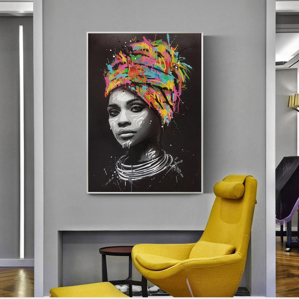 African Woman Wall Art Canvas Prints Modern Pop Art Canvas Paintings P Faberge Galore