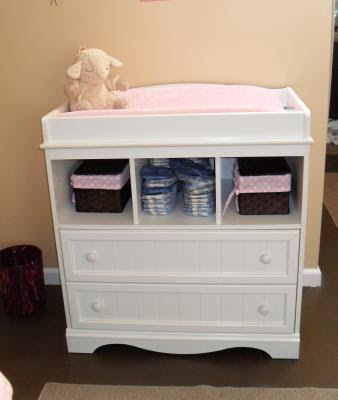 South Shore Baby Storage Furniture Dresser Changing Table Pure ...