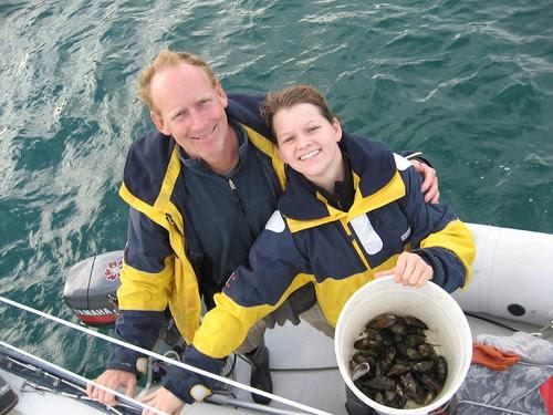 mussel foraging