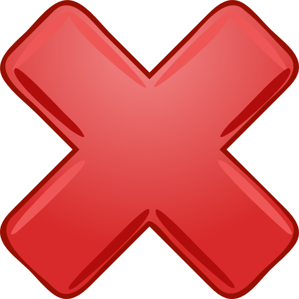 Red Cross Mark PNG Transparent Images   PNG All