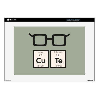Cute chemical Element Nerd Glasses Zwp34 Laptop Skins