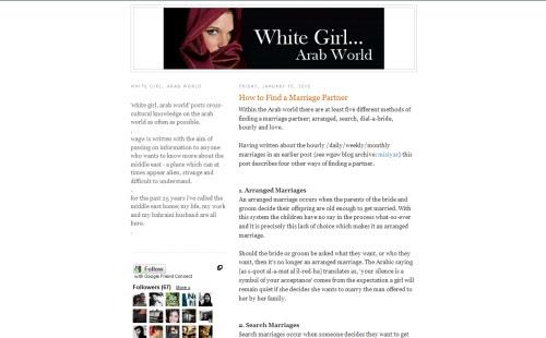 White Girl, Arab World