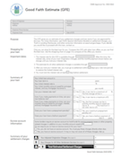 Loan estimate, before, Good Faith Estimate, page 1