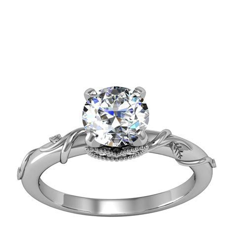 Diamond Nexus   Zeina engagement ring   frosting