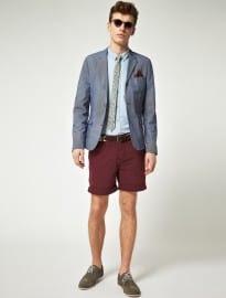 Asos Slim Fit Stripe Short Suit