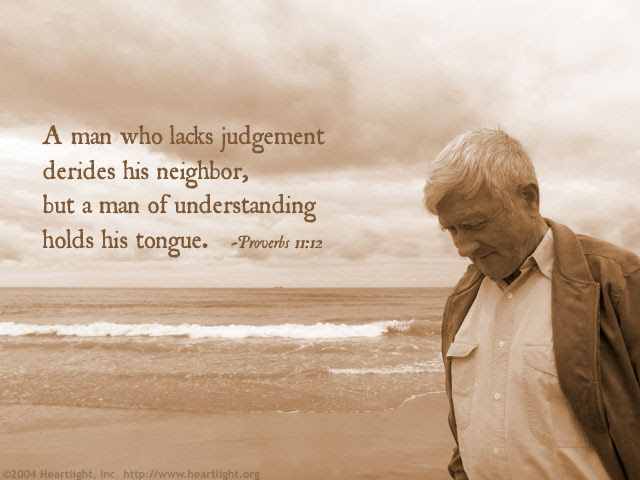 Inspirational illustration of Proverbs 11:12