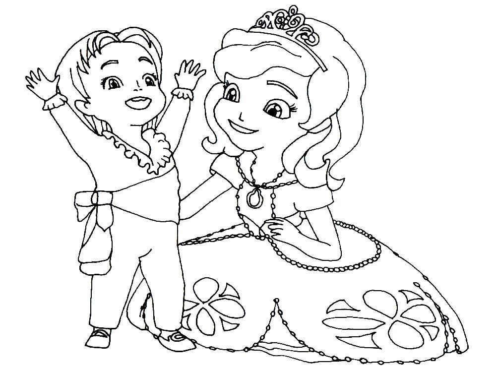 Imprimir Gratis Dibujos Para Colorear La Princesa Sofia