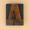 wood type letter A