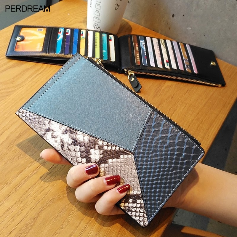 Sale Leather card bag female multi-card slot ultra-thin compact wallet one long 2019 new fashion large capacity