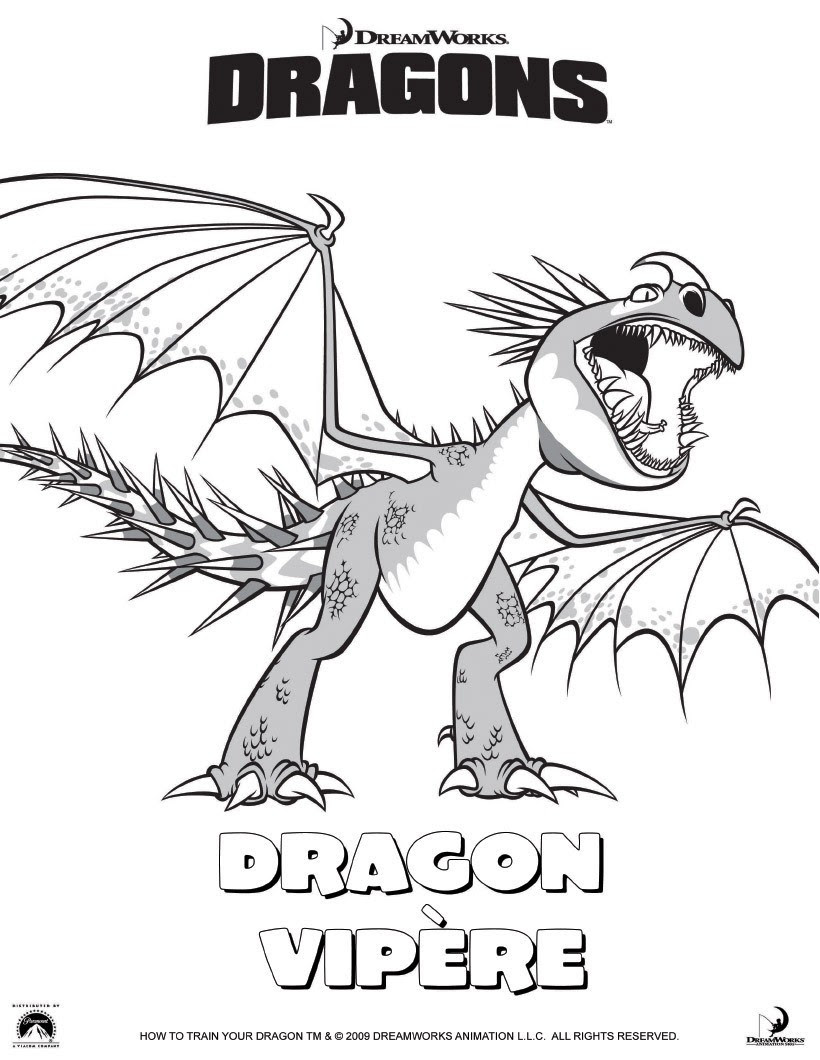 Varek le viking Coloriage Dragon vip¨re