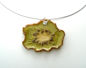 Kiwi Necklace - Real Fruit Jewelry - Fruit Necklace - Fruit Jewelry - RealFruitJewelry
