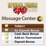 Grande Vegas Casino Players Have Surprise Bonuses Waiting in Their Casino Message Center