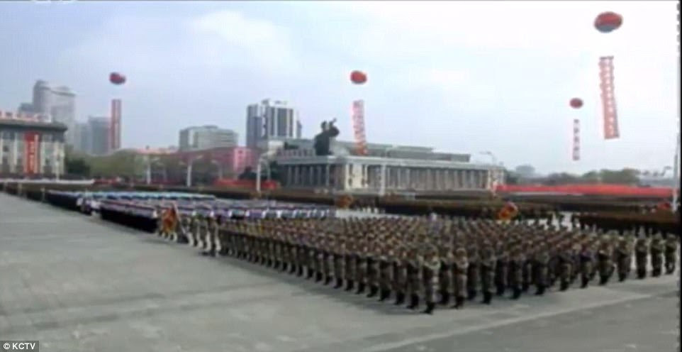 Kim kicked off the national Day of the Sun on Saturday with a military parade consisting of thousands of perfectly-choreographed troops amid rising tensions with the United States