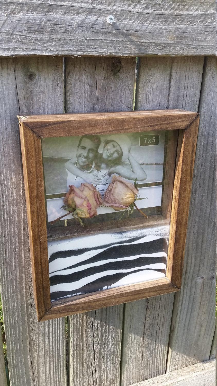 Personalizable Unity Sand Wedding Ceremony Shadow Box Wood Double