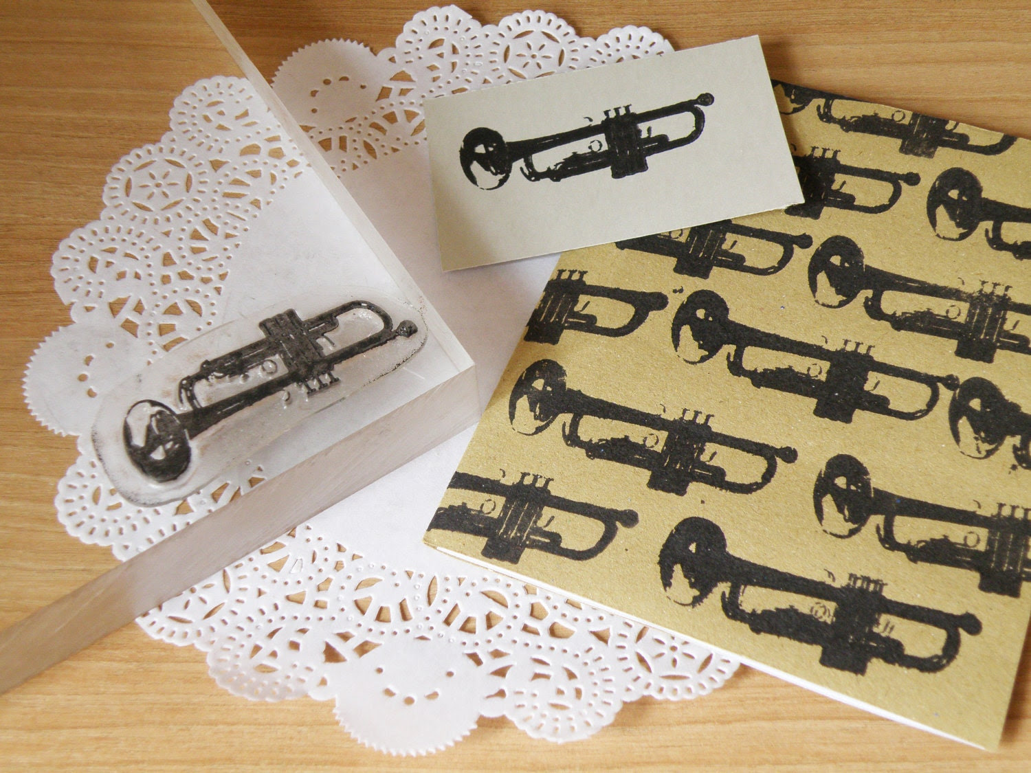 Trumpet clear stamp