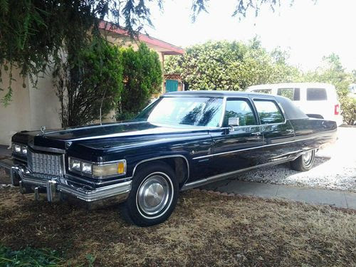 Find used 1976 Cadillac Fleetwood 75 Limousine 4-Door 8.2L ...