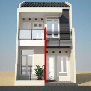 Keren ! Desain Tampak Depan Rumah Minimalis 2 Lantai Modern Ini