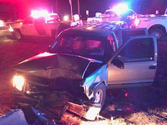 Crashed smuggling vehicle near los indios