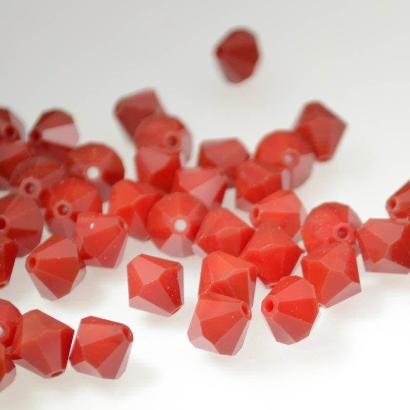 2775301s39246 Swarovski Elements Bead - 8 mm Faceted Bicone (5301) - Dark Red Coral (1)