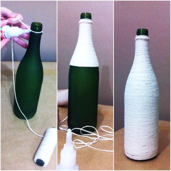 Como enfeitar garrafas e potes com barbante 017