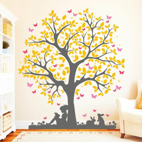 Children S Home Furniture 4farbig 11137 Wandtattoo Baum Madchen Hase Schmetterlinge Blatter Aufkleber Home Furniture Diy Breadcrumbs Ie