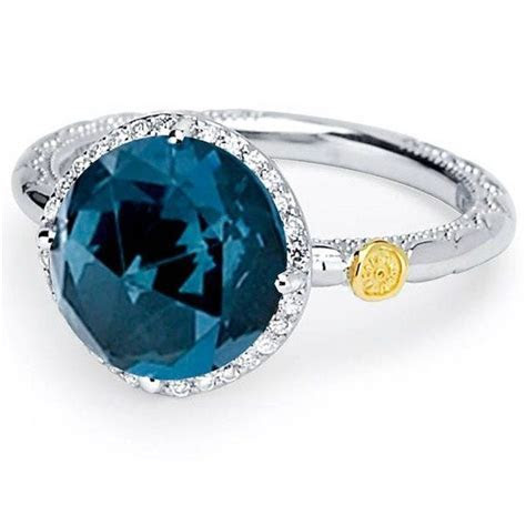 Something Blue   Tacori London blue topaz ring with
