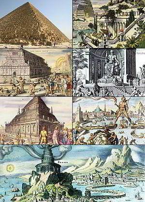 Las siete maravillas del mundo antiguo (foto: Wikipedia)