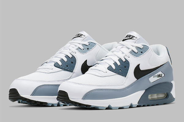 74128e825564 The Nike Air Max 90 Fuses Obsidian And Armory Blue. Not slowing down their  ...
