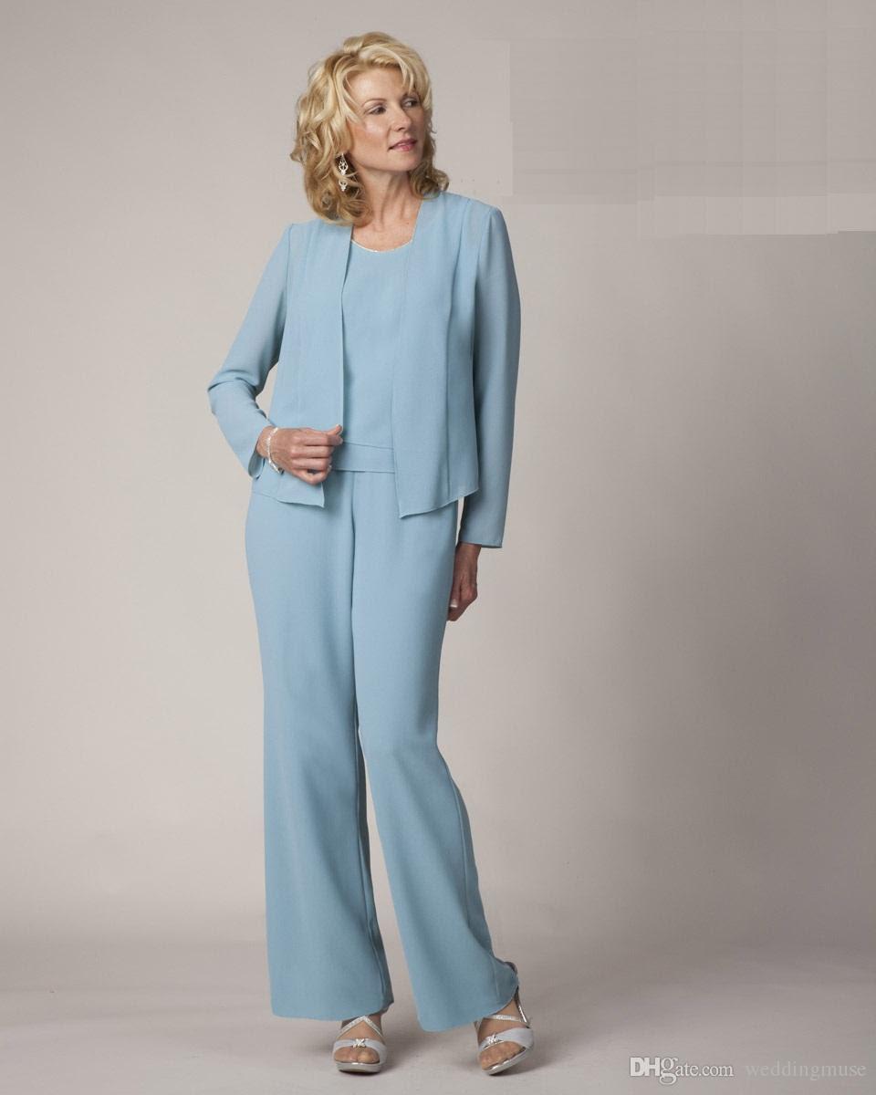 light blue mother of the bride pant suits elegant formal