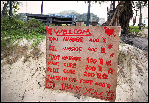 Beach massage at Karon Beach, Phuket