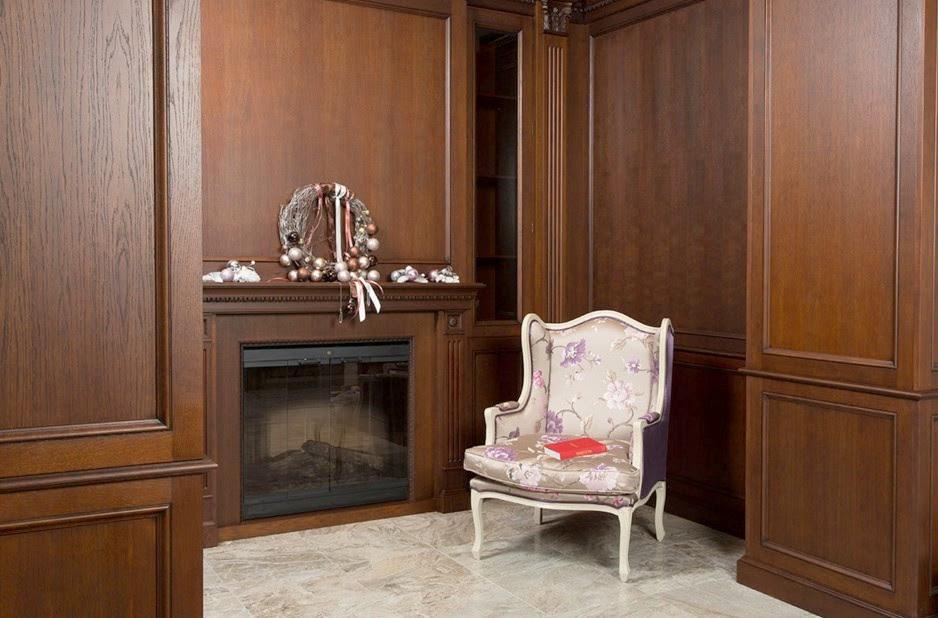 boiserie in legno classiche salone