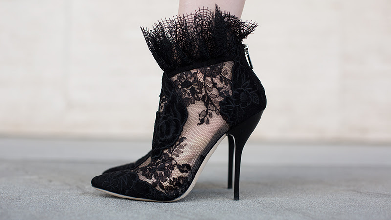 Jimmy Choo Lace booties (via fashionsquad.com)