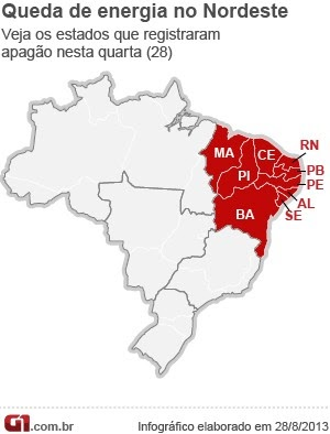 Apagão afetou nove estados do Nordeste