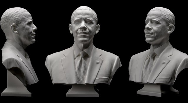 Un busto de Obama con impresora 3D